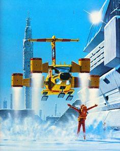 Science Fiction Kunst, Sci Fi Kunst, 70s Sci Fi Art, Sci Fi Environment, Classic Sci Fi, Futuristic Art, Sci Fi Books, Art Graphique, Illustrations
