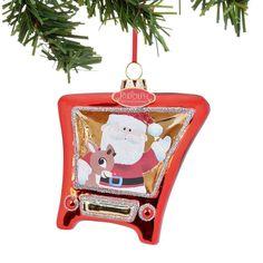 Santa and Rudy TV Ornament
