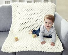 Yarnspirations is the spot to find countless free easy knit patterns, including the Bernat Alize EZ Criss-Cross Baby Blanket. Browse our large free collection of patterns & get crafting today! Bernat Baby Blanket, Knitted Baby Blankets, Baby Blanket Crochet, Crochet Baby, Free Crochet, Easy Crochet, Afghan Crochet, Crochet Granny, Free Baby Blanket Patterns
