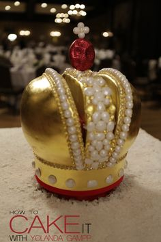 A cake fashioned after the a Russian Crown for an episode of #SugarStars on #FoodNetwork. Made by Yolanda Gampp.