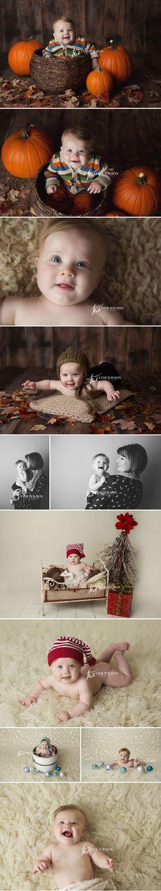 Miles at 6 months | Tami Wilson Photography - nice fall and Christmas setups