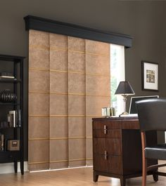Vertical Panel Tracks Are Perfect As Patio Door Blinds Contact Us To See All The