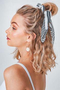 Hair Inspo, Hair Inspiration, Pretty Hairstyles, Scrunchy Hairstyles, Hairstyle Ideas, Heatless Hairstyles, Hairstyles With Headbands, Everyday Hairstyles, Short Summer Hairstyles
