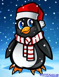 Image result for cartoon christmas penguin pictures