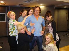 Joanna Lumley and her Bond girls kneel before Toby Stephens as 007:  http://www.radiotimes.com/news/2014-03-18/joanna-lumley-and-her-bond-girls-kneel-before-toby-stephens-as-007