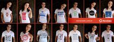 Camisas universitarias para estudantes e afins. Acesse outros modelos em www.moveclube.com.br