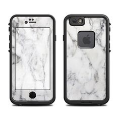DecalGirl Lifeproof iPhone 6 Fre Case skins feature vibrant full-color artwork that helps protect the Lifeproof iPhone 6 Fre Case from minor scratches and abuse without adding any bulk or interfering with the device's operation.   This skin features the artwork White Marble by Marble Collection - just one of hundreds of designs by dozens of talented artists from around the world.