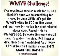 WE NEED TO DO THIS. THE BOYS DESERVE THIS. #WMYB500