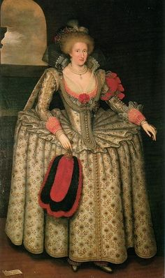 24-10-11  Anne of Denmark, Queen of England, Marcus Gheeraerts the Younger, Oil on canvas, Woburn Abbey  Datum  c.1611-1614