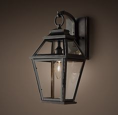 Cambridge Sconce - Small RH KMS: outdoor sconces, beside garage doors, maybe both sides of front door. Other finishes and larger size available. Outdoor Sconces, Outdoor Light Fixtures, Backyard Lighting, Outdoor Lighting, Lighting Ideas, Carriage Lights, House Front Porch, Front Porches, Interior Minimalista