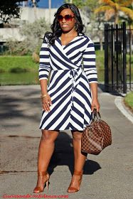Curves and Confidence | Inspiring Curvy Women One Outfit At A Time: In The Navy
