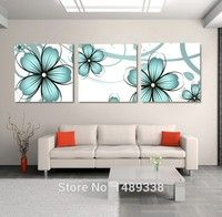 Framed High-quality Modern Printed On Canvas 3 piece blue flowers oil painting wall hanging picture wall flower Art Deco Wall Art, Wall Art Sets, Canvas Wall Art, Acrylic Portrait Painting, Acrylic Painting Canvas, Diy Wall Decor, Art Decor, Room Decor, Modern Wall Paint