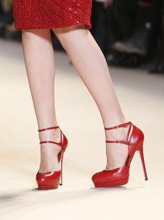 heels red Elie Saab fashion buckles