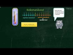 Kokonaisluvut | Opetus.tv (neljä videota 1:11-3:10). Place Values, Teacher Stuff, Mathematics, Numbers, Ipad, Tv, Math, Television Set, Television