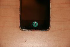 Monogrammed iPhone Home Button Decal by DixielandMonogram on Etsy, $2.25