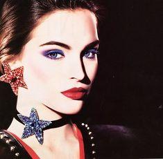 Yves Saint Laurent, American Vogue, September v Vintage Makeup, Vintage Beauty, Vintage Fashion, 70s Makeup, Retro Fashion, Women's Fashion, Ysl Beauty, Beauty Shots, Iconic Beauty