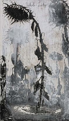 """Anselm Kiefer Reminds me of the poem """"Sunflower Sutra""""."""