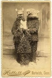 Victorian folks knew what was up. Old Halloween costumes are infinitely creepier than anything you can buy in a store.