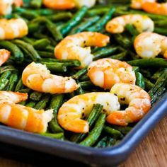 Easy, with greens and proteins! Recipe for Spicy Roasted Green Beans and #Shrimp