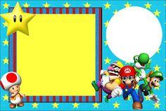 Super Mario Bros – Kit Completo com molduras para convites, rótulos para guloseimas, lembrancinhas e imagens! | Fazendo a Nossa Festa