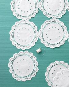 Doilie tablecloth...and 8 other doilie projects