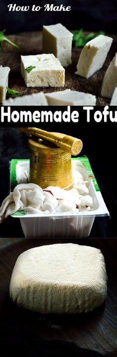 Tofu from store bought Soy milk #tofu #vegan #healthy