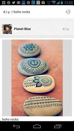 DIY boho rocks   :)