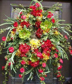 Summer Door Wreath Hydrangea Wreath Wreath For Door by LuxeWreaths, $189.00
