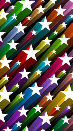 Rainbow Wallpaper, Star Wallpaper, Colorful Wallpaper, Pattern Wallpaper, Abstract Backgrounds, Wallpaper Backgrounds, Colorful Backgrounds, Iphone Homescreen Wallpaper, Cellphone Wallpaper