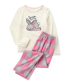 Another great find on #zulily! Pink 'Snuggle Bunny' Pajama Set - Infant, Toddler & Girls #zulilyfinds