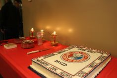 Eagle Scout Court of Honor cake table