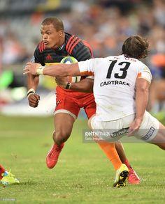 Dillyn Leyds dos Stormers DHL durante o Super Rugby match 2016 entre a Toyota chitas e DHL Stormers na Toyota Stadium em 05 de março de 2016 em Bloemfontein, África do Sul.