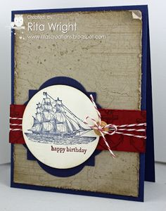 by Rita Wright, Rita's Creations: Stampin' Up! The Open Sea