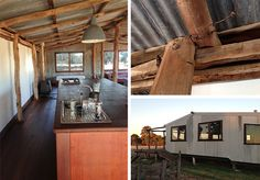 shearing shed converted to a stylish 2 bedroom, self-contained bungalow. Shed Homes, Kit Homes, Australian Sheds, Australian Farm, Shed Plans, House Plans, Shed Conversion Ideas, Converted Shed, Farm Shed