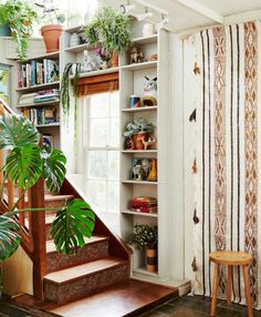 boho home stairs