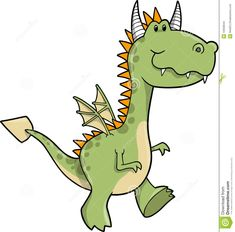 Cute Dragon Vector Illustration Stock Images - Image: 10058944