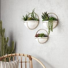 White Planters, Large Planters, Wall Planters, Living Wall Planter, Wall Mounted Planters, Faux Plants, Indoor Plants, Hanging Plants, Plant Wall Decor