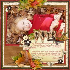 layout by Brandy Murry @ ScrapGirls  Layout was for the Curling Leaves Embellishments but also used:  La Di Da Collection Biggie  Blessed Be Collection Biggie  Twiggy Embellishments  ScrapSimple Tools - Styles: Autumn Suede Super Biggie  Scrapbook Quotes