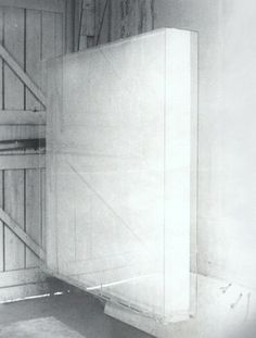 Mary Corse - Light Box from 1967 in Artist's Studio, 1967