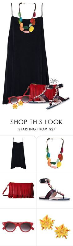 """""""Wood Layered Necklace"""" by bainbridgegal ❤ liked on Polyvore featuring One Button, Gabriella Rocha, Fendi, Cutler and Gross and Moschino"""