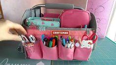 Craftmans pink tote - organizzazione materiale di cancelleria
