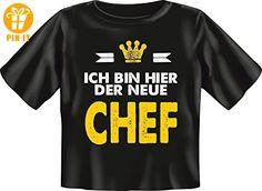 Baby-Shirt - Der neue Chef - Fun T-Shirt 100% Baumwolle - Größe Baby M 68-74 - T-Shirts mit Spruch | Lustige und coole T-Shirts | Funny T-Shirts (*Partner-Link)