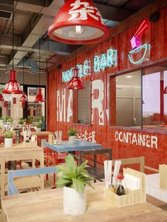 Noodle bar in Almaty, Kazakhstan on Behance . Hotpot Restaurant, Ramen Restaurant, Ramen Bar, Ramen Shop, Noodle House, Noodle Bar, Bar Interior, Restaurant Interior Design, Chinese Noodle Restaurant