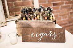 Cigar And Whiskey Party, Cigar Bar Wedding, Wooden Wedding Signs, 40th Birthday Parties, 65th Birthday, Wedding Catering, Bar Signs, Unique Weddings, Bar Tables