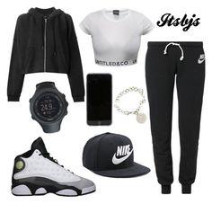 """Nike/Jordan13/black"" by itsbjs on Polyvore"