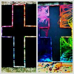 Rainbow crayola art<3