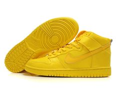 All Yellow Nikes dunk High tops Nylon lemon  $80.00