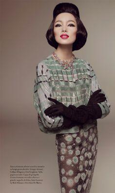 Fei+Fei+Sun+Vogue+Italia+111 Vintage Inspired Fashion   The Fabulous Fei Fei Sun