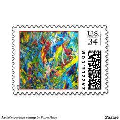 Artist's postage stamp