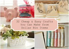 A List of 32 Cheap and Easy Crafts You Can Make from Dollar Bin Items